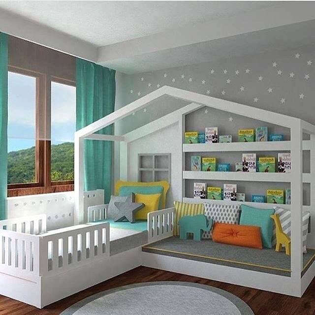 Kids Bedroom Ideas & Designs in 2020 | Toddler house bed, Toddler .