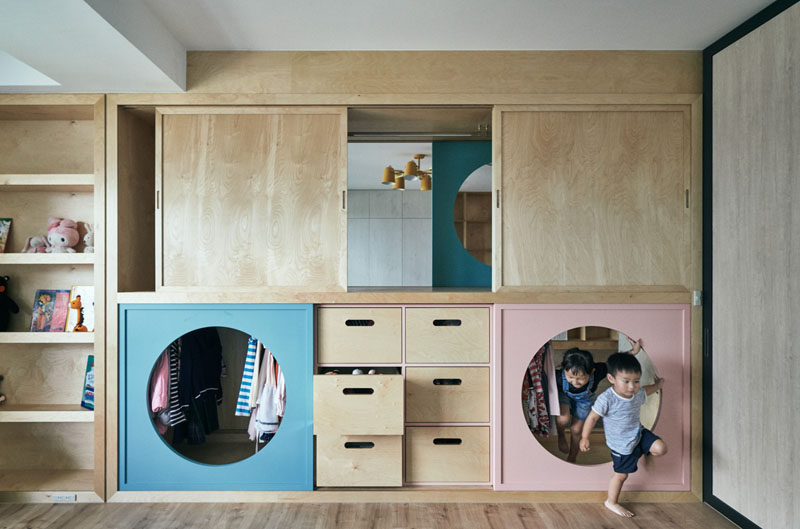 Design Detail: A Wardrobe With Tunnels Connects A Play Area With .
