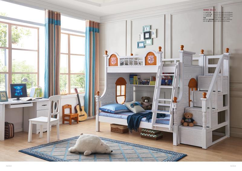 JLMF619 Ash wood children bedroom furniture all solid wood .