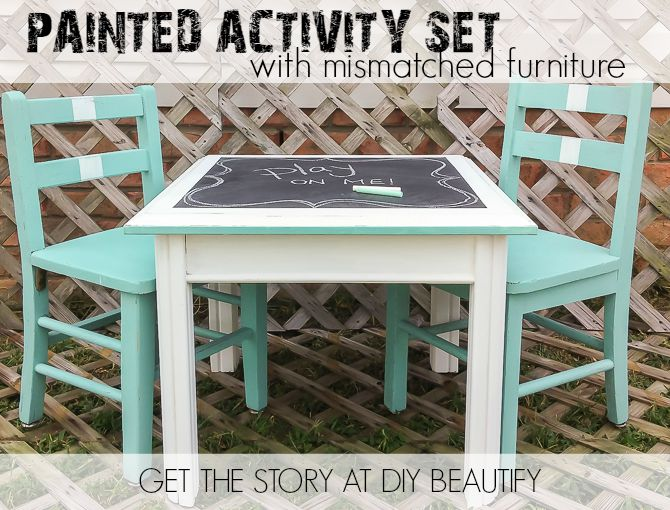Create an Activity Table Set for Kids with Mismatched Furniture .