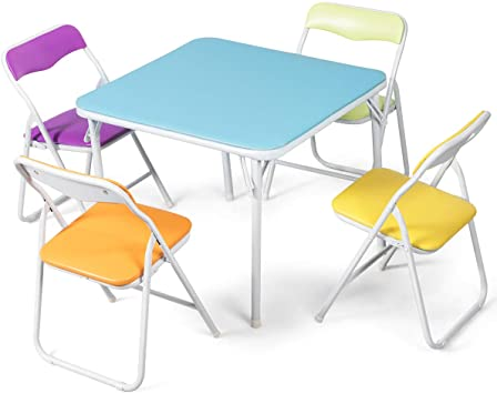 Amazon.com: Costzon Kids Table and Chair Set, 5 Piece Colorful .