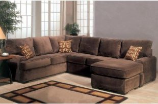 Amazon.com: Sectional Sofa Couch Chaise with Block Feet in .