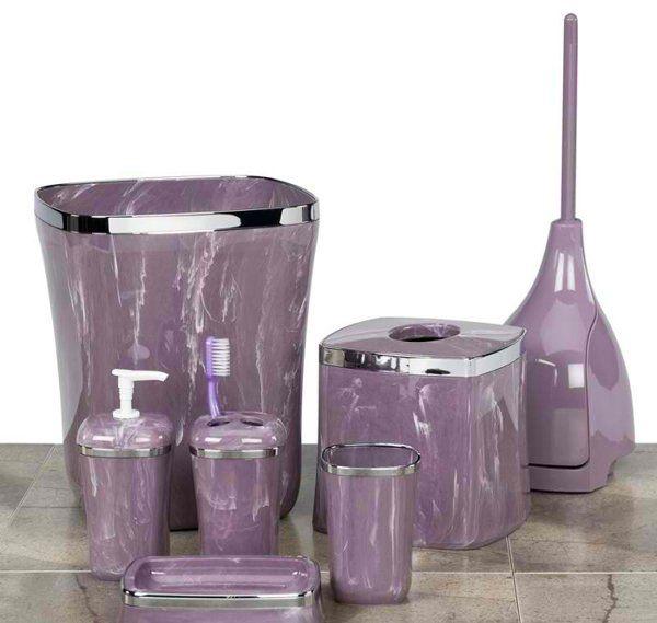 15 Elegant Purple Bathroom Accessories | Purple bathroom .