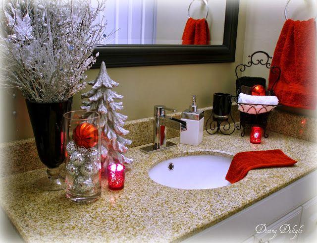 Top 35 Christmas Bathroom Decorations Ideas | Christmas diy .