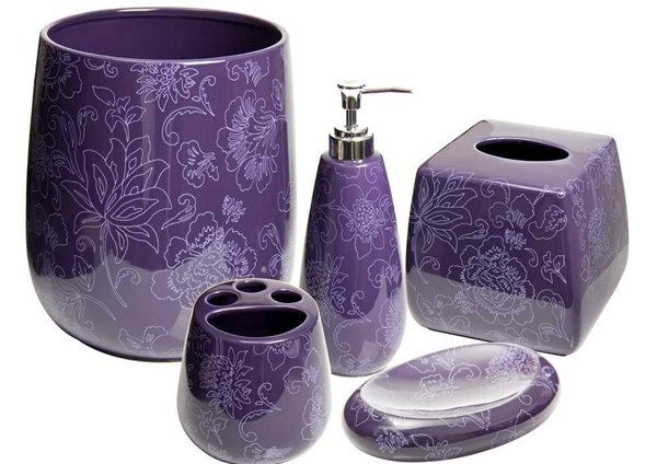 15 Elegant Purple Bathroom Accessories | Home Design Lov