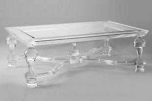 China Living Room Furniture Clear Acrylic Modern LED Glass Coffee .