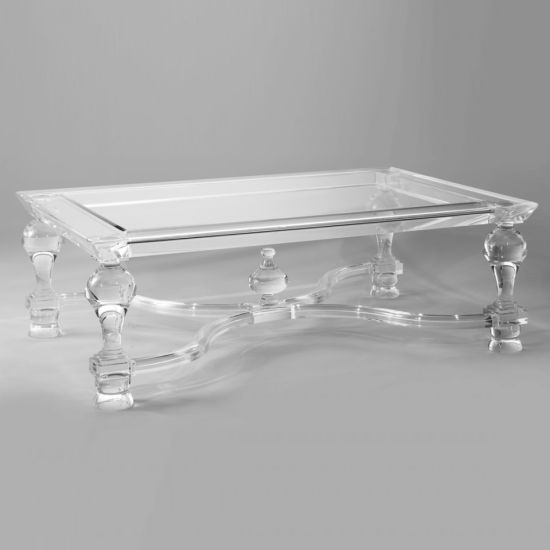 Clear Acrylic Glass Coffee Table