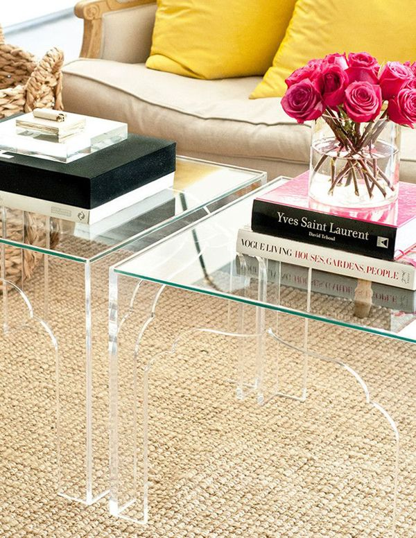 Lucite Table - Acrylic Furniture - Home Decor | Small apartment .