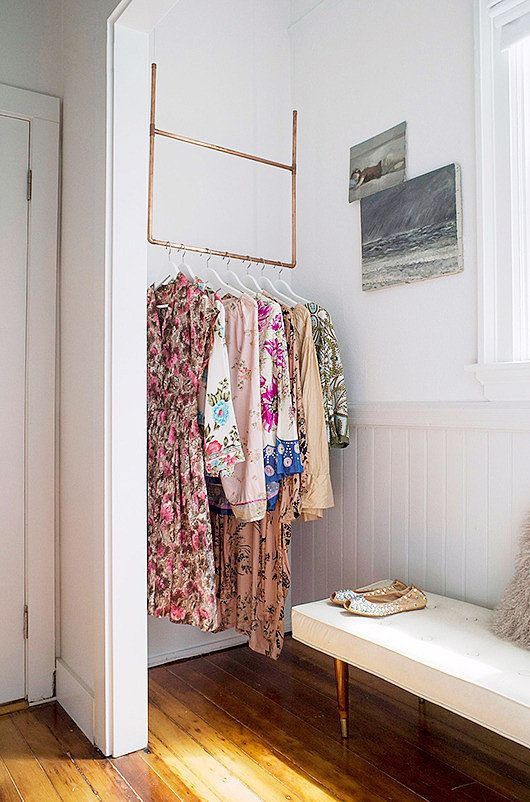 38 Creative Clothes Storage Solutions For Small Spaces - DigsDi