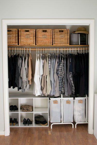 Clothes Closet Storage Ideas | Closet bedroom, Apartment living .