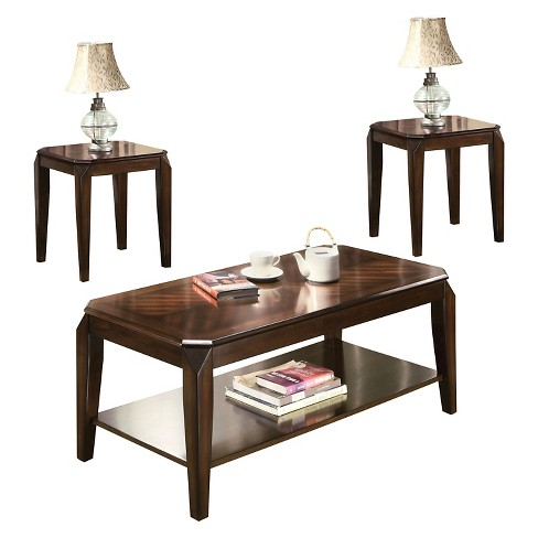 3 Piece Docila Pack Coffee End Table Set Walnut - Acme Furniture .