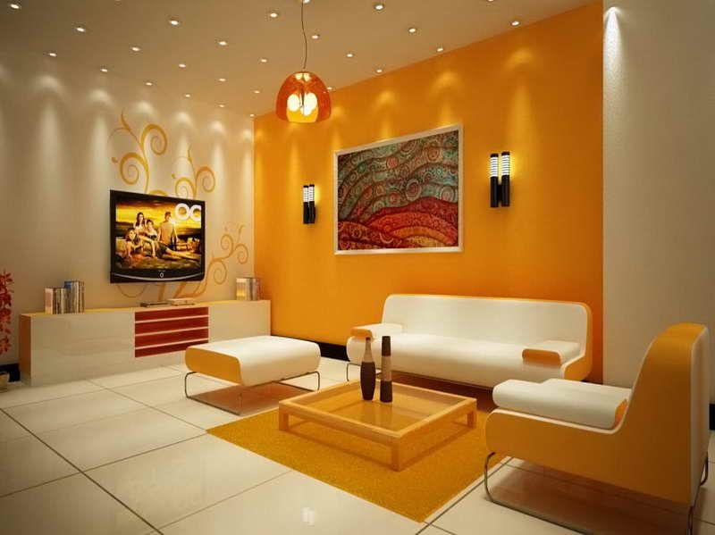 bright_orange.jpg (800×599) | Living room wall color, Room wall .