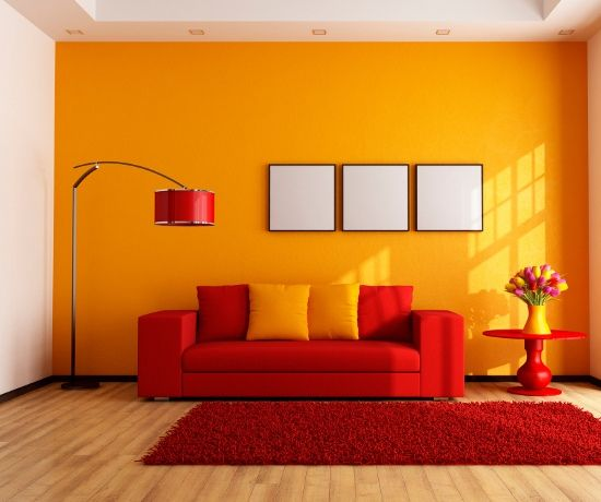 7 Paint Colors that Go Well with Red | Room color combination .