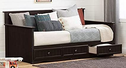 Amazon.com: Daybed Frame Twin - Chocolate Laminate with Three .