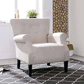 Amazon.com: LOKATSE HOME Accent Arm Chair Mid Century Upholstered .