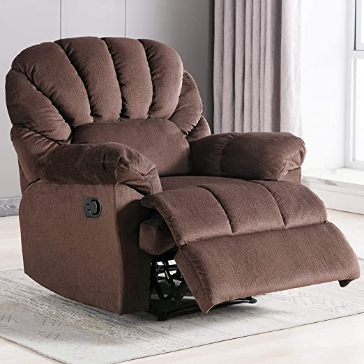 Amazon.com: Fabric Recliner Chair, Self-Adjusting The Backrest and .