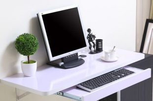 Simple home desktop computer desk simple small apartment new space .