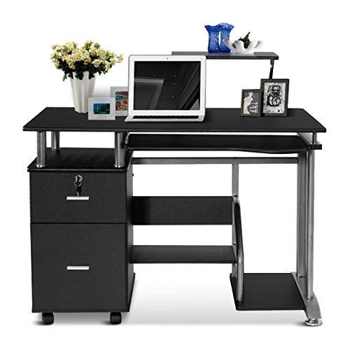 Amazon.com: Tangkula Computer Desk, Home Office Desk, Computer .