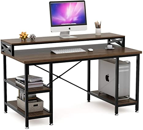 Amazon.com: Tribesigns Computer Desk with Storage Shelves, 55 inch .