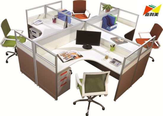 Modern Office Workstation Computer Desk for 4 Person - China .