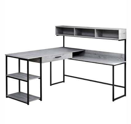 Monarch Specialties Corner Workstation Computer Desk GrayBlack .