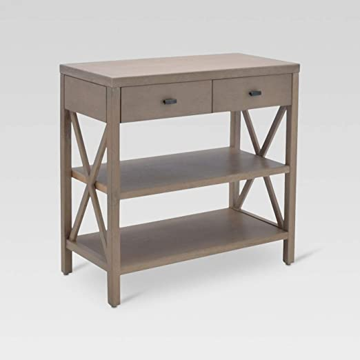 Amazon.com: Owings Console Table 2 Shelf with Drawers - Threshold .