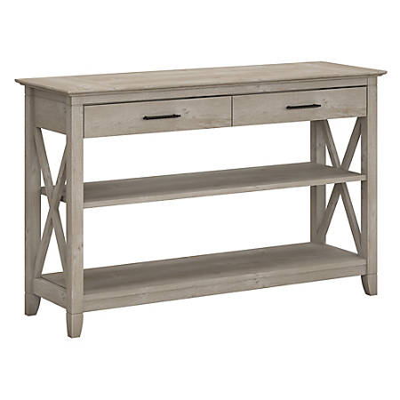 Bush Key West Console Table Gray Standard - Office Dep