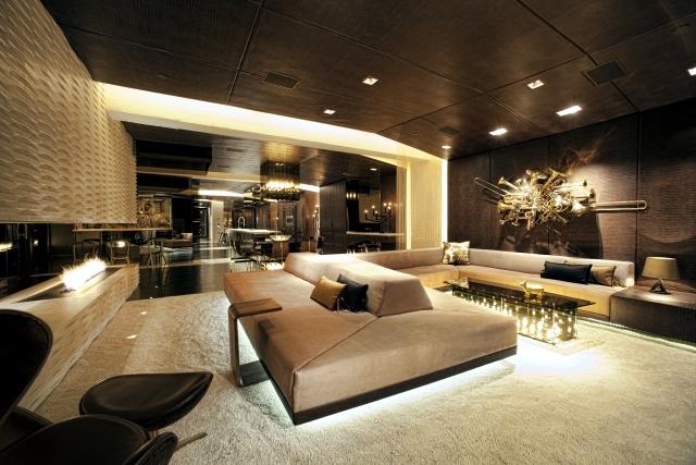 Living room interior design ideas – brown is modern | Interior .