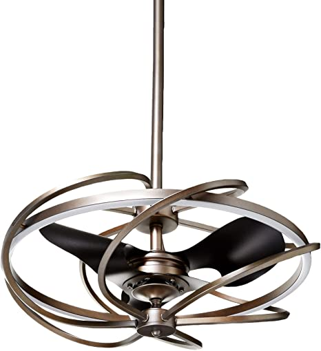 Contemporary Ceiling Fans with LED Lights 27 Inch Art Decor .