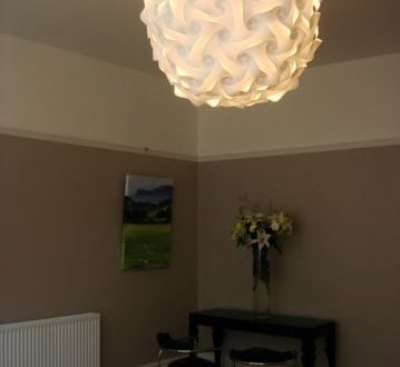 Possible living room light. Elektra lampshade. Extra large @ 80cm .