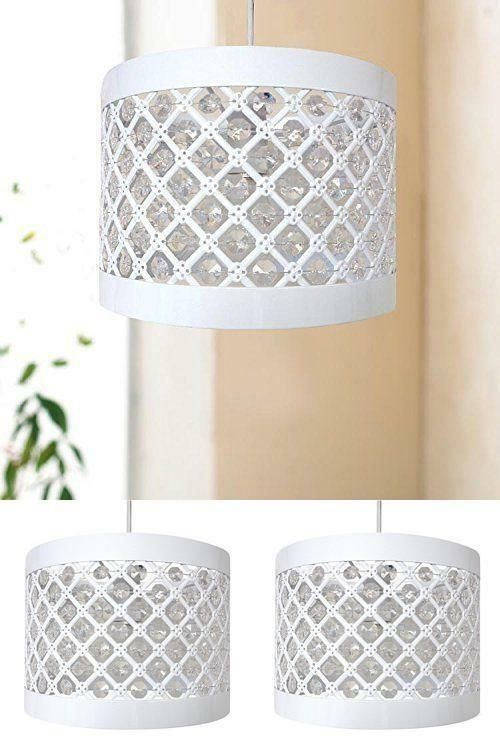 Ceiling Pendant Light Shade White Frame Lampshade Hallway Living .