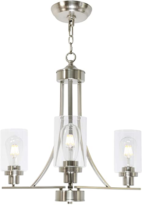 Amazon.com: BONLICHT Contemporary Chandelier 3 Light Brushed .