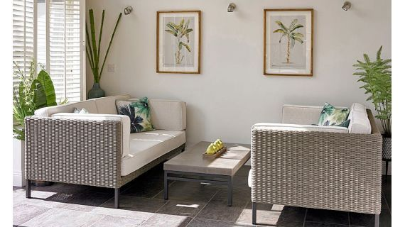 Como Two x Two-Seater Sofas and a Coffee Table | Conservatory .