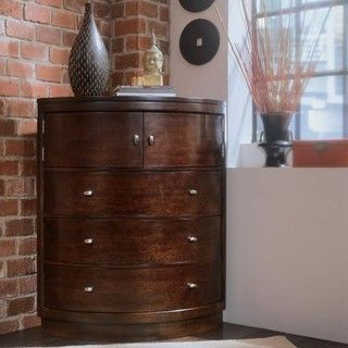 Contemporary Corner Dresser With Drawers
