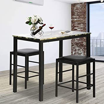 Amazon.com - Rectangular Kitchen Dining Table Set Contemporary .