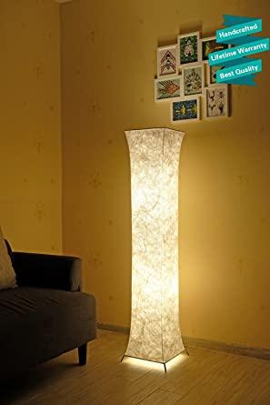 52'' LED Floor Lamp & 2 Light Bulbs,Contemporary Roman Columns .