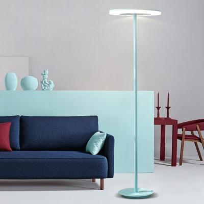 Acrylic Disc LED Floor Lamp Macaron Contemporary Floor Light for .