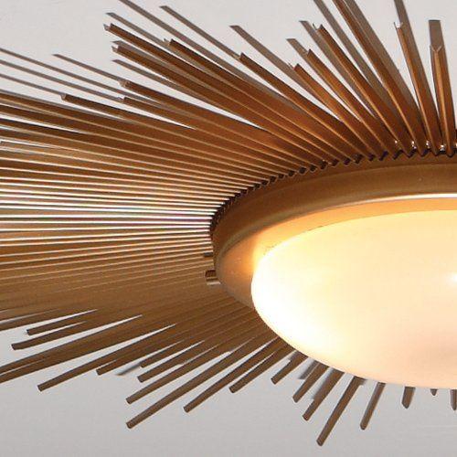 Sunburst Gold Modern / Contemporary Flush Mount Ceiling Light .
