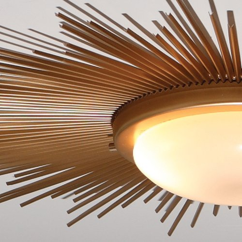 Global Views 9.91411 Sunburst Gold Modern / Contemporary Flush .