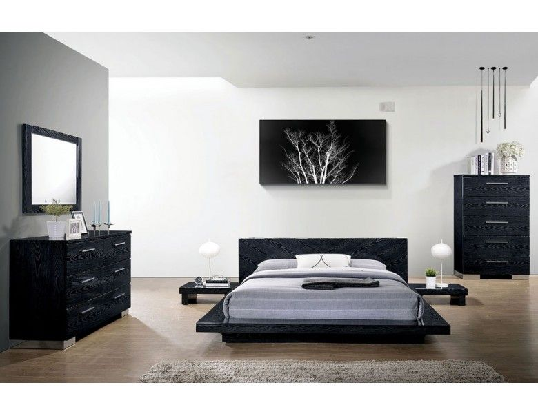 Shiro Night Low Profile Bed in 2020 | Modern bedroom furniture .