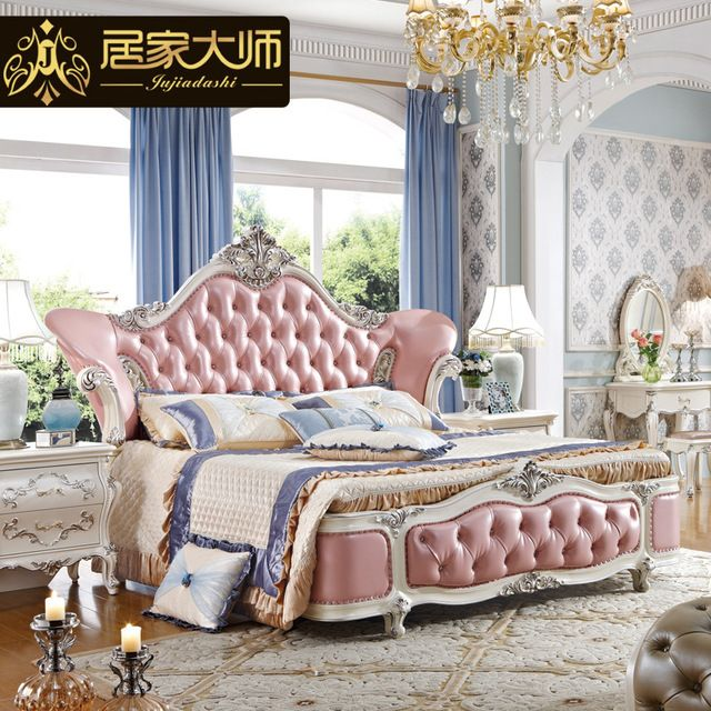 China Guangzhou Leather Modern Luxury Princess Bedroom Furniture .