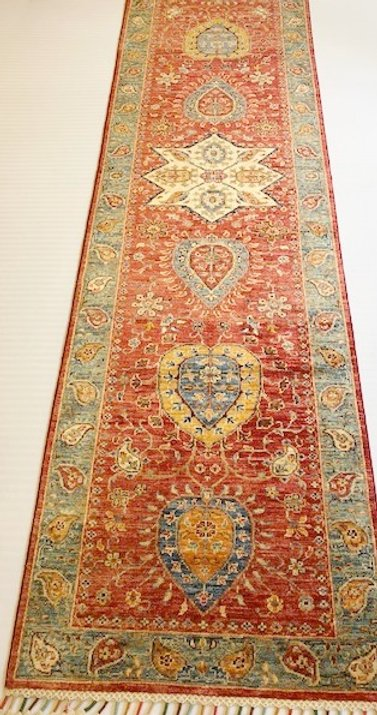 Contemporary Hall Runner - Suzani Rug Collection /Sienna .