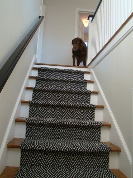 Black Carpet Runners For Stairs With Modern Pattern In Black And .