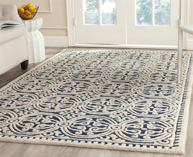 Transitional Cambridge Area Rug - Contemporary - Hall And Stair .