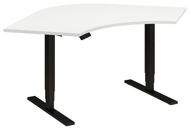Move 80 Series 48W Corner Height Adjustable Standing Desk in White .