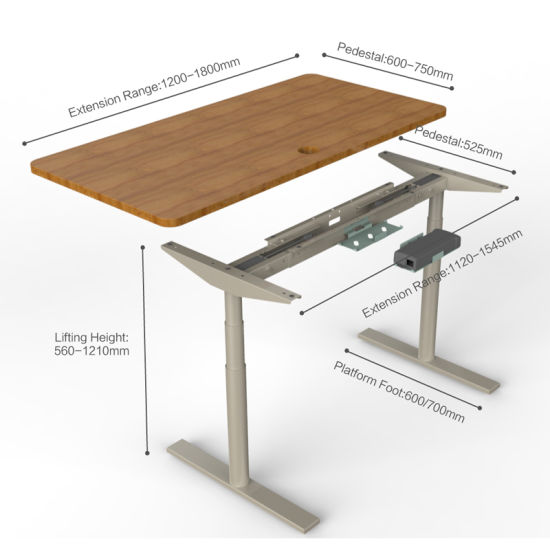 China Adjustable Standing Desk Furniture Modern Office Desk .