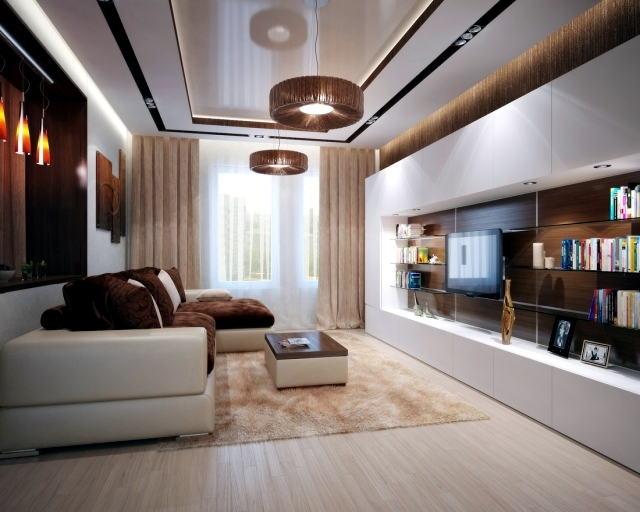 Living room interior design ideas – brown is modern | Interior .