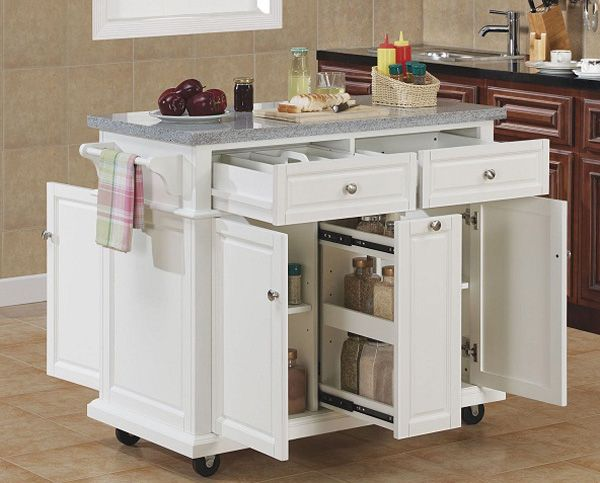 Contemporary Kitchen Island Cart With   Seating