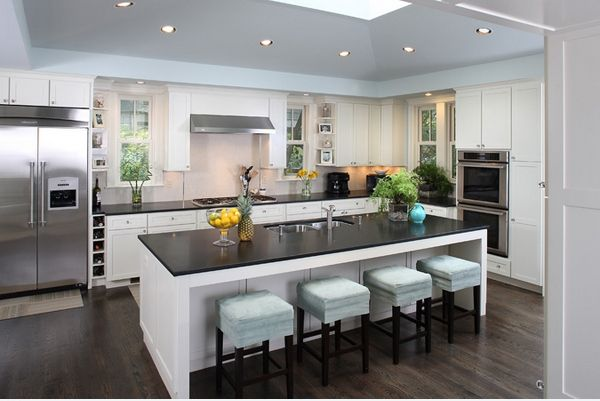 Inspirational Pictures of Contemporary Kitchen Island with Seating .