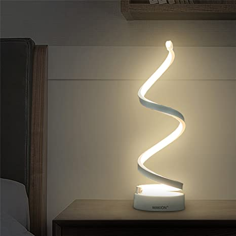 Amazon.com: Makion Spiral LED Table Lamp, Curved LED Desk Lamp .